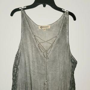 Democracy Dresses - Democracy Cold Shoulder Dress/Tunic 1X